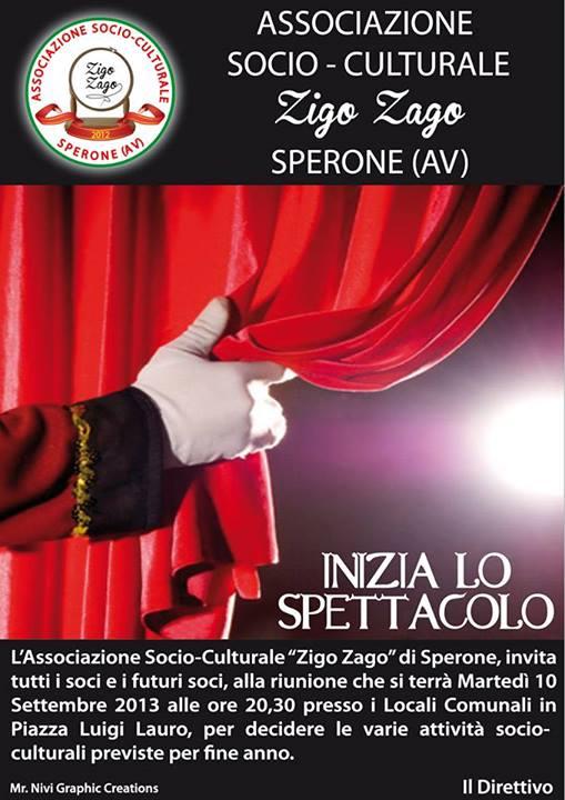 SPERONE. Il 10 settembre si riunisce l'associazione Zigo ...