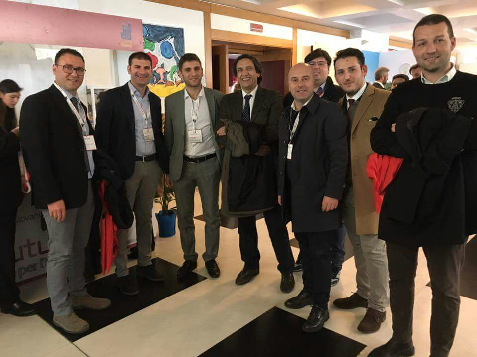 Enzo Alaia all'assemblea dell'Anci Giovani con Roberto De Luca
