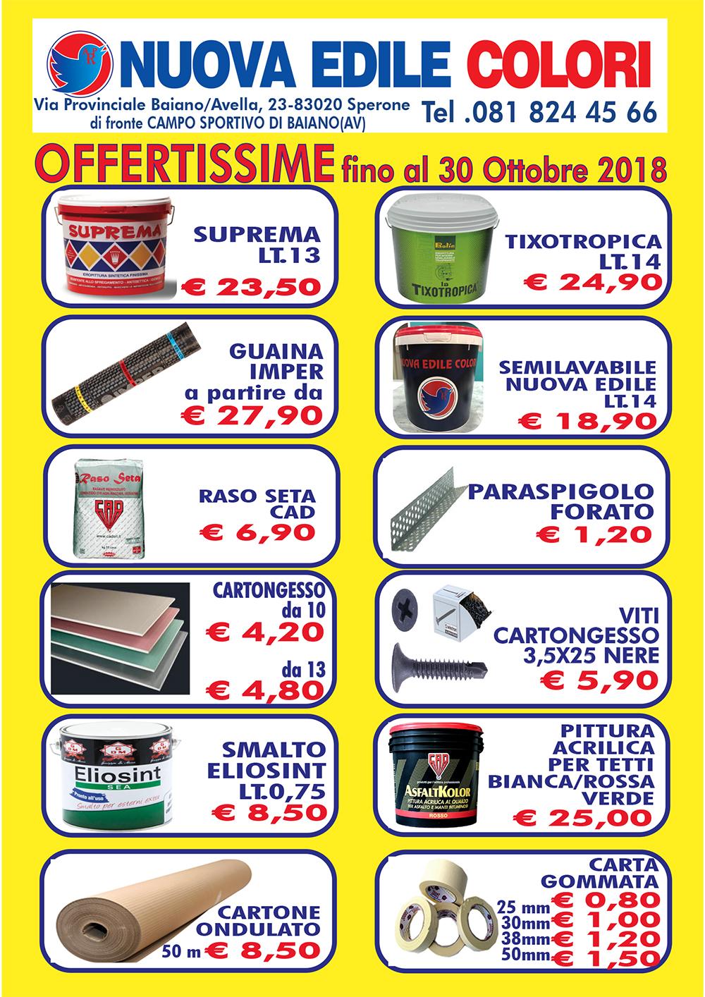 NUOVA EDILE COLORI VOLANTINI A5 SETTEMBRE 2018