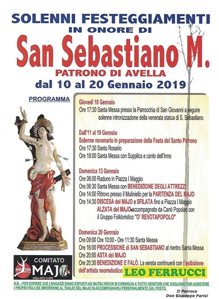 Avella Il Programma Della Festa Del Maio Di San Sebastiano