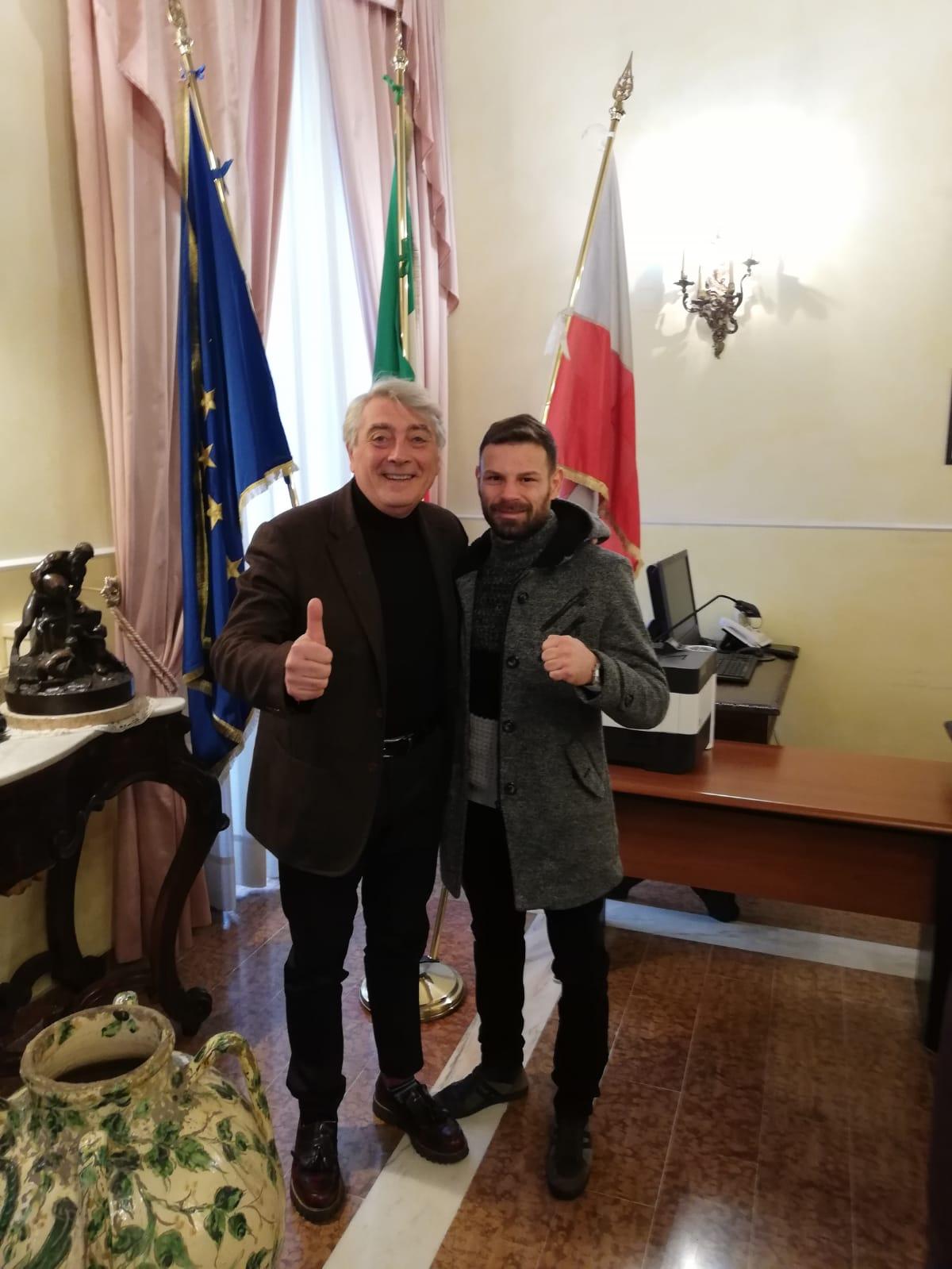 il presidente Biancardi con Carmine Tommasone